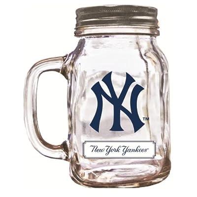 MLB New York Yankees Duckhouse 20 Ounce Mason Jar