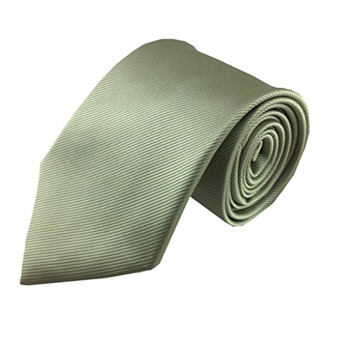 Mens Necktie Sage Green Tonal Stripe Trendy Style Fashion Tie (Mens Sage Green Ties compare prices)