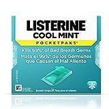 Listerine Cool Mint Pocketpaks Breath Strips Kills Bad Breath Germs, 24-Strip Pack