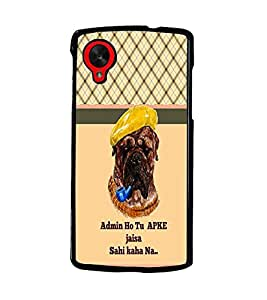 PrintDhaba Quote D-3383 Back Case Cover for LG GOOGLE NEXUS 5 (Multi-Coloured)