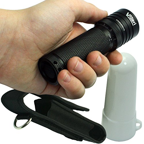 Vizeri Tactical Flashlight: Hi-Lumen, Precision Focusing, Best Versatility Accessories, Flexible Power, Lifetime Replacement, Included Lantern Diffuser & Holster