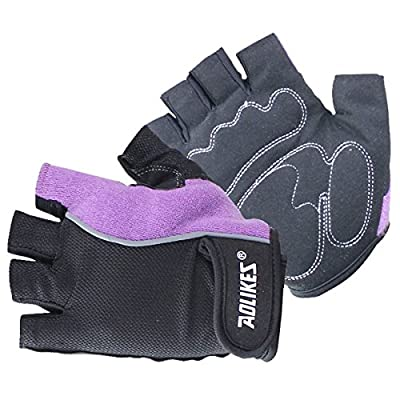 AOLIKES Breathable Gym Workout Gloves Crossfit Training Fitness Yoga Pilate Bodybuilding Gloves Non Slip Lightweight Cycling Work Women Men Gloves from AOLIKES