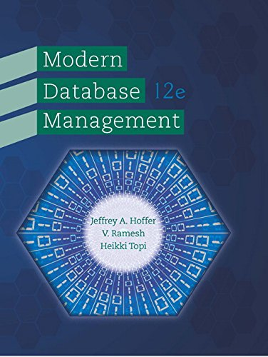 Modern Database Management, 12th Edition