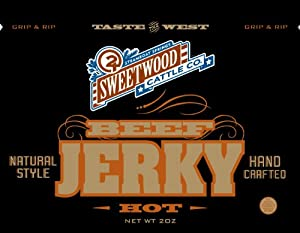 Sweetwood Jerky Hot Flavor, 2-Ounce-Bag Multipack by Sweetwood Jerky Co.