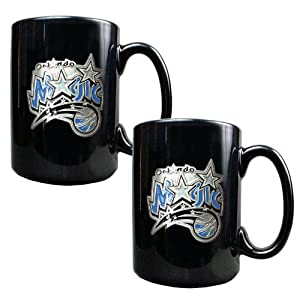 Orlando Magic Nba 2Pc Black Ceramic Mug Set - Primary Logo by Great American Products