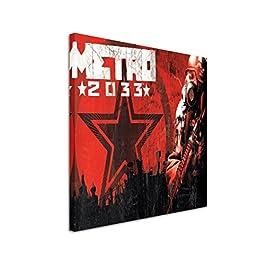 Leinwandbild Metro_2033_60x60cm Bild als schoener Kunstdruck auf echter Leinwand als Wandbild auf Keilrahmen