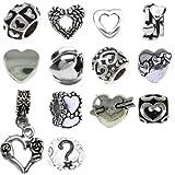 Timeline Trinketts Rhinestone Charm Bracelet Beads Fits Pandora Jewelry European Style - Happy Hearts