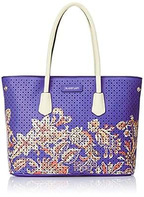 Sugarush Floral Women's Tote Bag Handbag (Navy) SR/FLO/TT208/GGH2015)