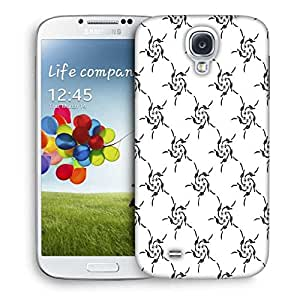 Snoogg White Pattern Printed Protective Phone Back Case Cover For Samsung S4 / S IIII