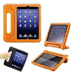 iPad Mini 1/2/3 Kids Case Orange: Ruban Safe Shockproof Protection for Apple iPad Mini 1/2/3 (1st & 2nd & 3rd Generation)[Lifetime Warranty],Orange