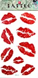 GGSELL KING HORSE New design red lip temporary tattoo stickers