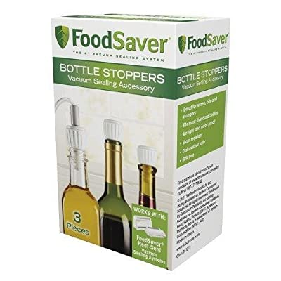 FoodSaver 3-Pack Bottle Stoppers New