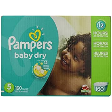 Pampers Baby Dry Diapers Economy Pack Plus (Size 5, Pack of 160)