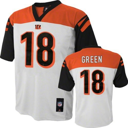 A.J. Green Cincinnati Bengals #18 Nfl Youth Mid-Tier Jersey White (Youth Small 8)