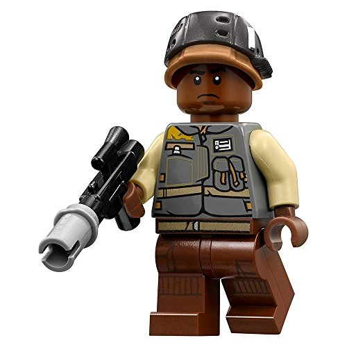 Lego Star Wars Rogue One Rebel Trooper Minifigure (dark skin)