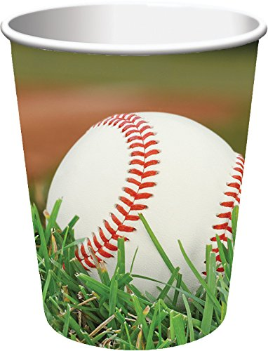 Creative Converting 8 Count Sports Fanatic Baseball Hot/Cold Cups, 9 oz, Multicolor