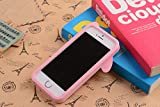 Iphone 5 Case,E-Age Cute 3D Rabbit Soft Silicone Skin Case Cover For Iphone 5/5S (Pink)