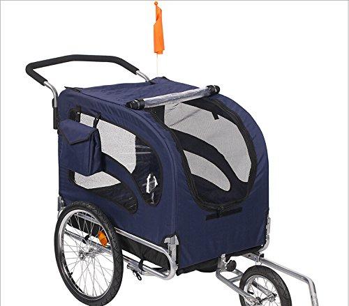 Honeyway Comfort Wagon Dog Bike Trailer/ Stroller (Blue) front-353162