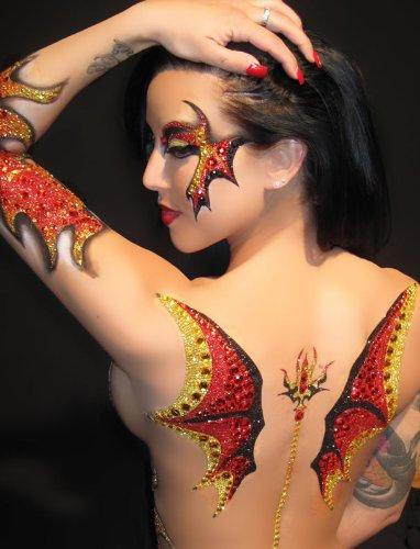 Xotic Eyes Wings - Demonic Body Art Applique