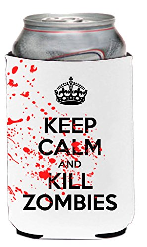 Funny Guy Mugs Keep Calm And Kill Zombies Neoprene Can Coolie, White (Walking Dead Cooler Bag compare prices)