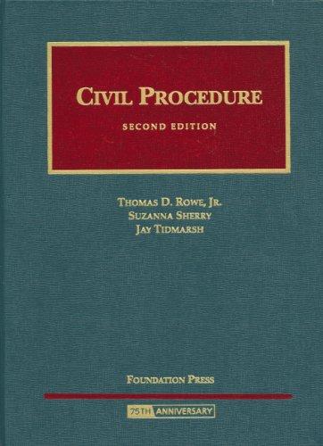 Civil Procedure (University Casebook)
