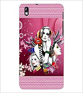PrintDhaba Girls D-4574 Back Case Cover for HTC DESIRE 816 (Multi-Coloured)
