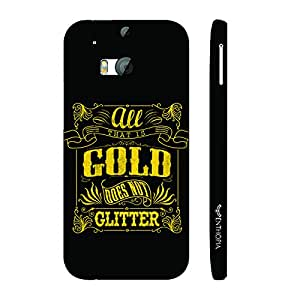 Htc One M8 Gold does not glitter designer mobile hard shell case by Enthopia