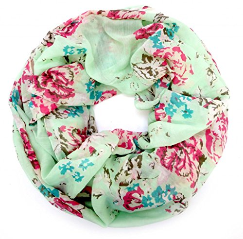 accessu-Echarpe-Foulard-pour-Femme-genteel-Floral-Design-mintrose