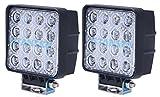 (スタンセン) Stansen LEDワークライト オフロード防水作業灯 CREE製 48W 16連10-30VDC対応(12V/24V兼用)2個セット [並行輸入品]
