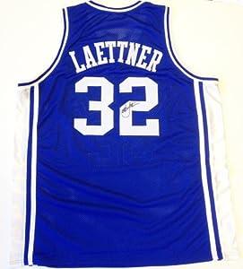 Christian Laettner Signed Duke Blue Devils Jersey Blue