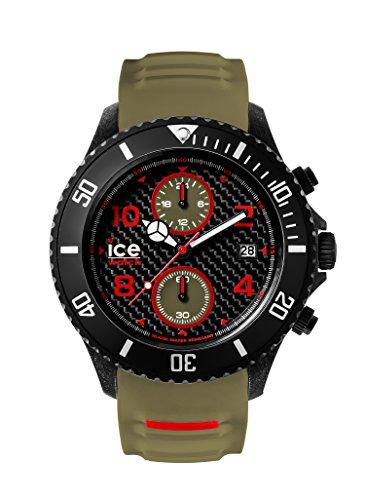 Ice-Watch Herren - Armbanduhr Ice Carbon Analog Quarz Silikon CA.CH.BKA.BB.S.15