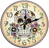 1 X Day of the Dead clock - Reloj El Dia de los Muertos - Calavera