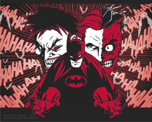 Licenses Products DC Comics Batman Joker and Two Face Sticker - 1