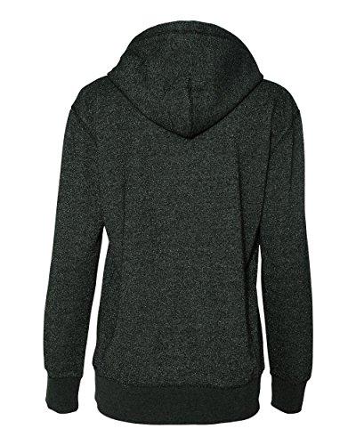 j-america-j8860-ladies-glitter-french-terry-hooded-fleece-black-small