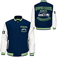 Seattle Seahawks NFL Men's Super Bowl XLVIII Champions Cotton Canvas Jacket from Starter