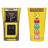 パックマン グラス 2個セット / Pac-Man Arcade Game Cabinet and Characters Pint Glass 2-Pack 【並行輸入】