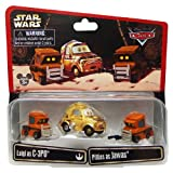 カーズ×スターウォーズ 2014限定コラボミニカー 3PACK ルイジasC-3PO & ピッティーズasジャワズ / Disney PIXAR CARS x STAR WARS MATTEL STAR TOURS スターツアーズ ディズニー ピクサー LUIGI as C-3PO & PITTIES as JAWAS