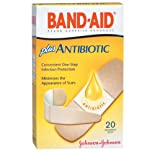 Band-Aid Adhesive Bandages, Plus Antibiotic, Assorted Sizes, 20 ct.