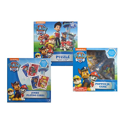 Paw Patrol Game Pack: Puzzle, Popper Jr, Jumbo Playing Cards (Popper Jr Game compare prices)