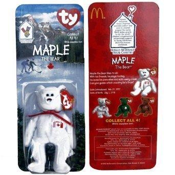 Maple Canadian Bear - McDonald's Ty Teenie Beanie MIP - 1999 (Bag of 6) - 1