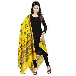 Banjara WomenS Cotton Stoles & Dupattas Kutchi Chakachak (Chk08 _Lemon Yellow _Handicraft Dupatta_Free Size)