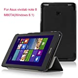 VSTN?Asus VivoTab Note 8 M80TA (windows 8.1) ultra-thin Smart Cover Case, Only fit Asus VivoTab Note 8 (windows 8.1) tablet (Smart case, Black)