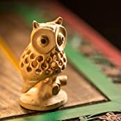ExclusiveLane Handmade Wooden Carved Owl Showpiece - Gift Items / Home Décor / Decorative Item / Table Tops