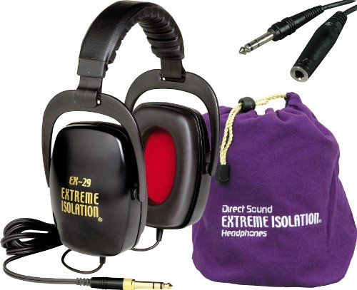 Direct Sound Ex-29 Dynamic Closed Headphones Black W/Bag And 10' Headphone Extension Cable