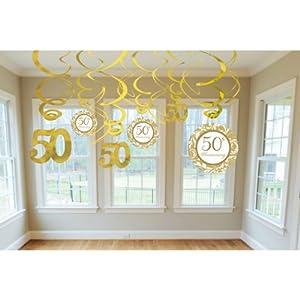 girlande goldene hochzeit 50 jahre swirl dekoration spielzeug. Black Bedroom Furniture Sets. Home Design Ideas