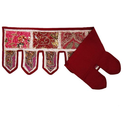 decorazioni per la casa ricamata a mano di perline multicolor porta mantovana patchwork toran bandhanwar 36