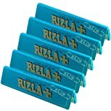 5 x RIZLA BLUE KING SIZE SLIM ULTRA THIN CIGARETTE GUMMED ROLLING PAPER BOOK BOOKLET