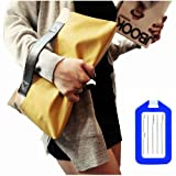 ノー ブランド   レディース  フェイクレザー クラッチバッグ   取っ手付き 手持ちバッグ + ネームタグ ランキングお取り寄せ