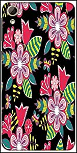 Snoogg Abstract Floral Background Designer Protective Back Case Cover For HTC Desire 826