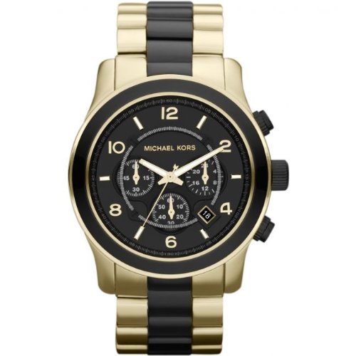 Michael Kors Men's MK8265 Two-Tone Stainless-Steel Quartz Watch with Black Dial
